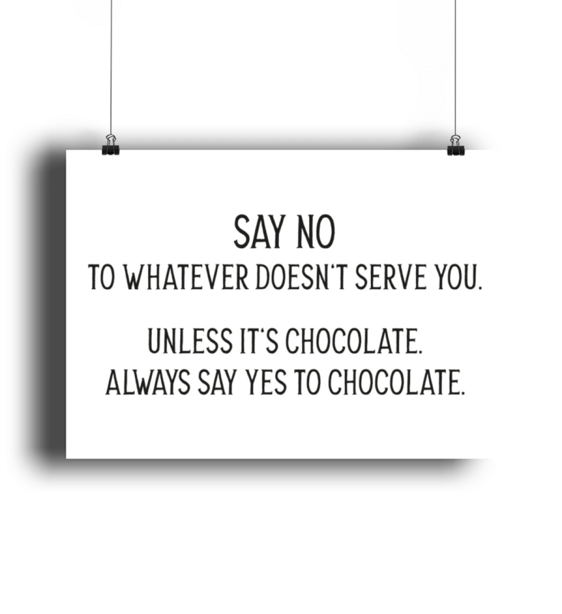 Say no to whatever doesnt serve you - DIN A2 Poster (querformat)-3